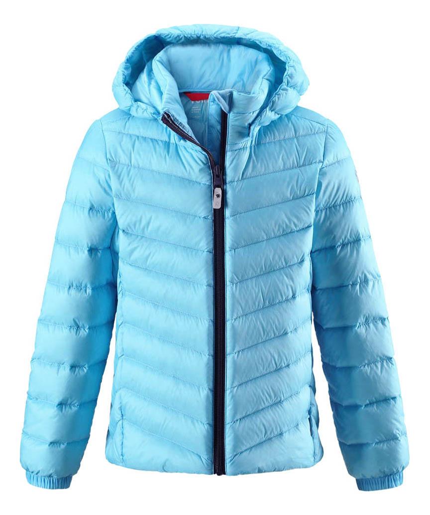 Куртка Reima пуховая для девочки Fern голубая