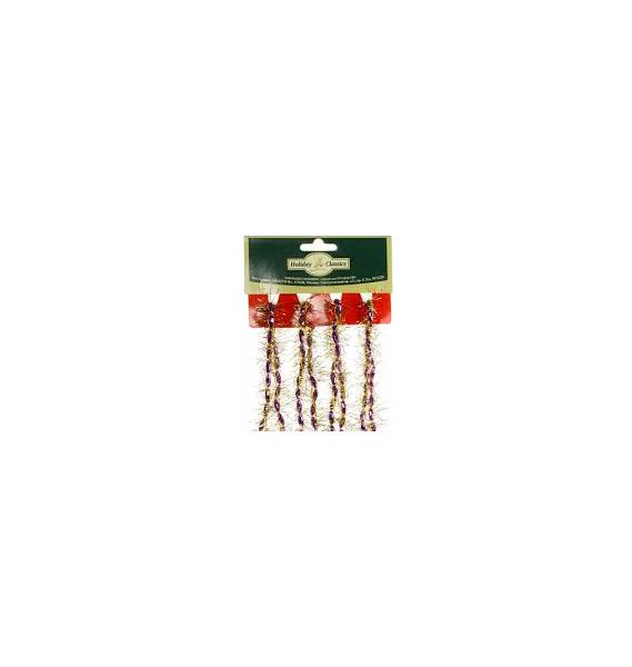 Мишура Holiday Classics Бусы BG30162/M3 Золотистый, лиловый