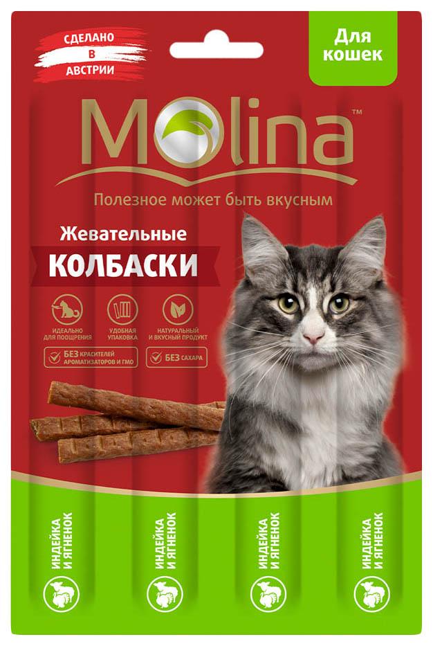 Лакомство для кошек Molina, индейка, ягненок, 1шт, 0,02кг