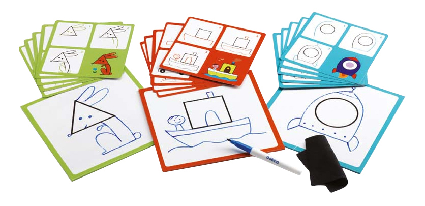 Купить Набор для рисования Djeco Геометрические фигуры, Наборы для рисования