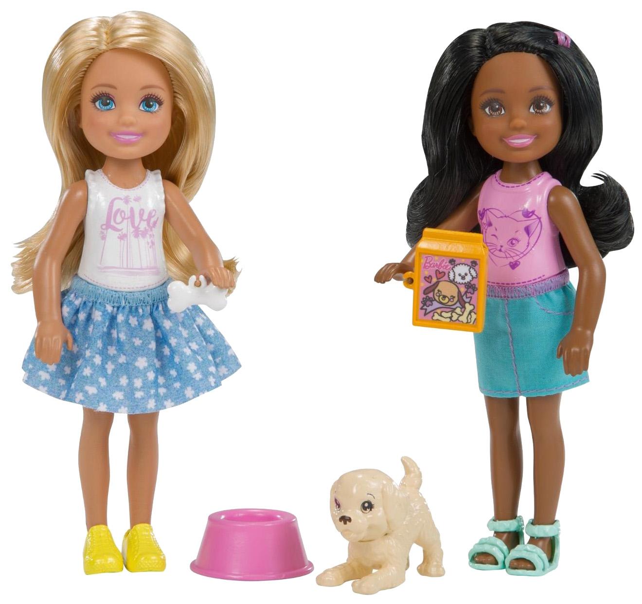 Купить Челси 2 шт. с питомцем, Куклы Barbie Челси с питомцем FHK96/FHK97 2 шт