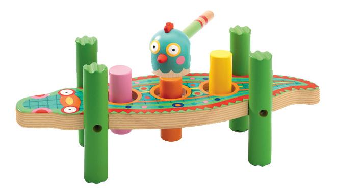 Купить Деревянная игрушка для малышей Забивалка Кикукрок Djeco, Развивающие игрушки