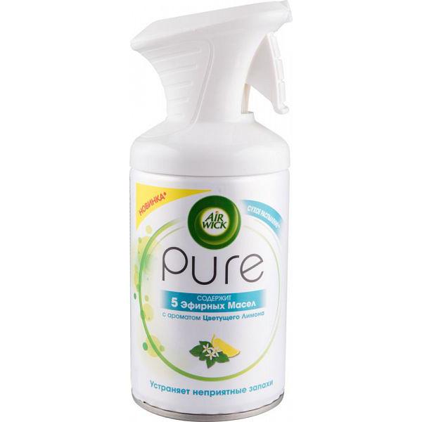 Освежитель воздуха Air Wick pure 5 эфирных масел цветущий лимона 250 мл