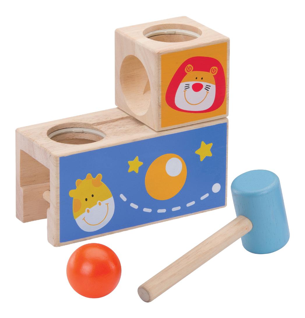 Логическая игрушка-стучалка с шариком Сафари Wonderworld WED-3124