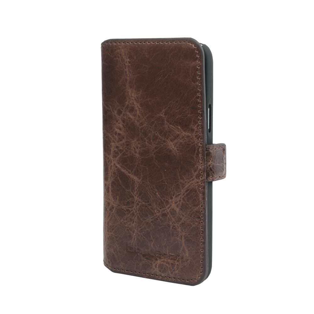 Чехол кожаный Bouletta книжка (Портмоне) для Samsung Galaxy S5 Mini, Коричневый-VS5
