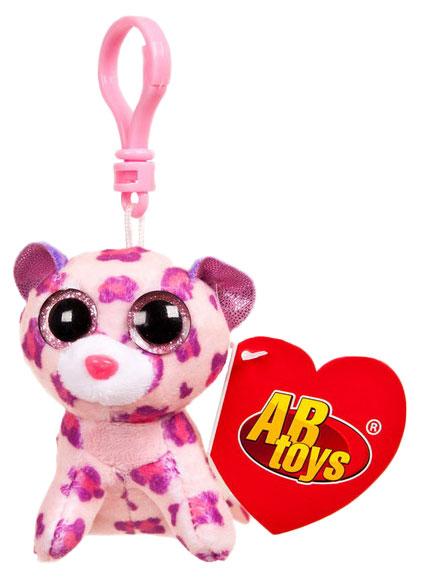 Мягкая игрушка ABtoys Леопард пурпурный, на брелке 8 см фото