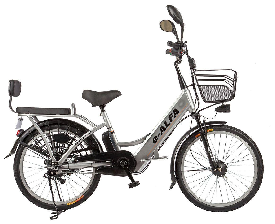 "Электровелосипед Eltreco e-ALFA 2018 18.5"" серый"