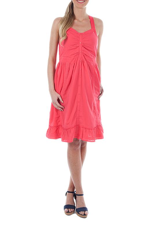 Платье женское U.S. Polo Assn. G082CS032EJ8JY2002 980 розовое 38 RU