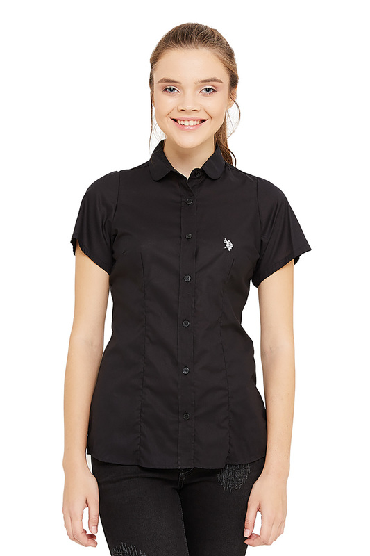 Рубашка женская U.S. POLO Assn. G082SZ0040-OUT VR046 черная 40 USA