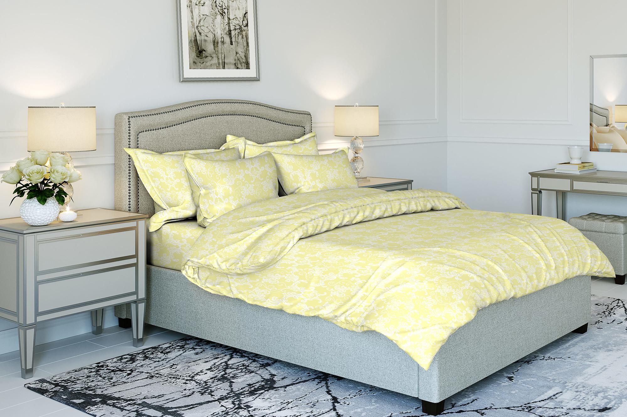 Комплект постельного белья Ночь нежна Ampir Цвет: Шампань (2 спальное)