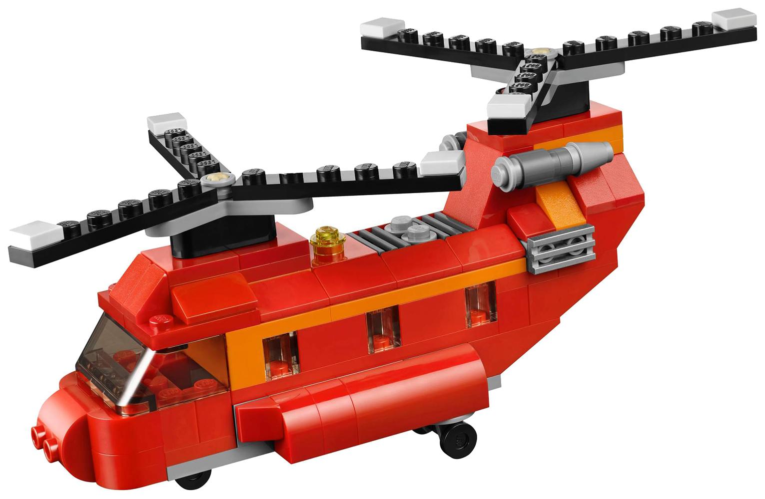 """Конструктор 3 в 1 """"Пожарный вертолет"""", 145 деталей Decool"""