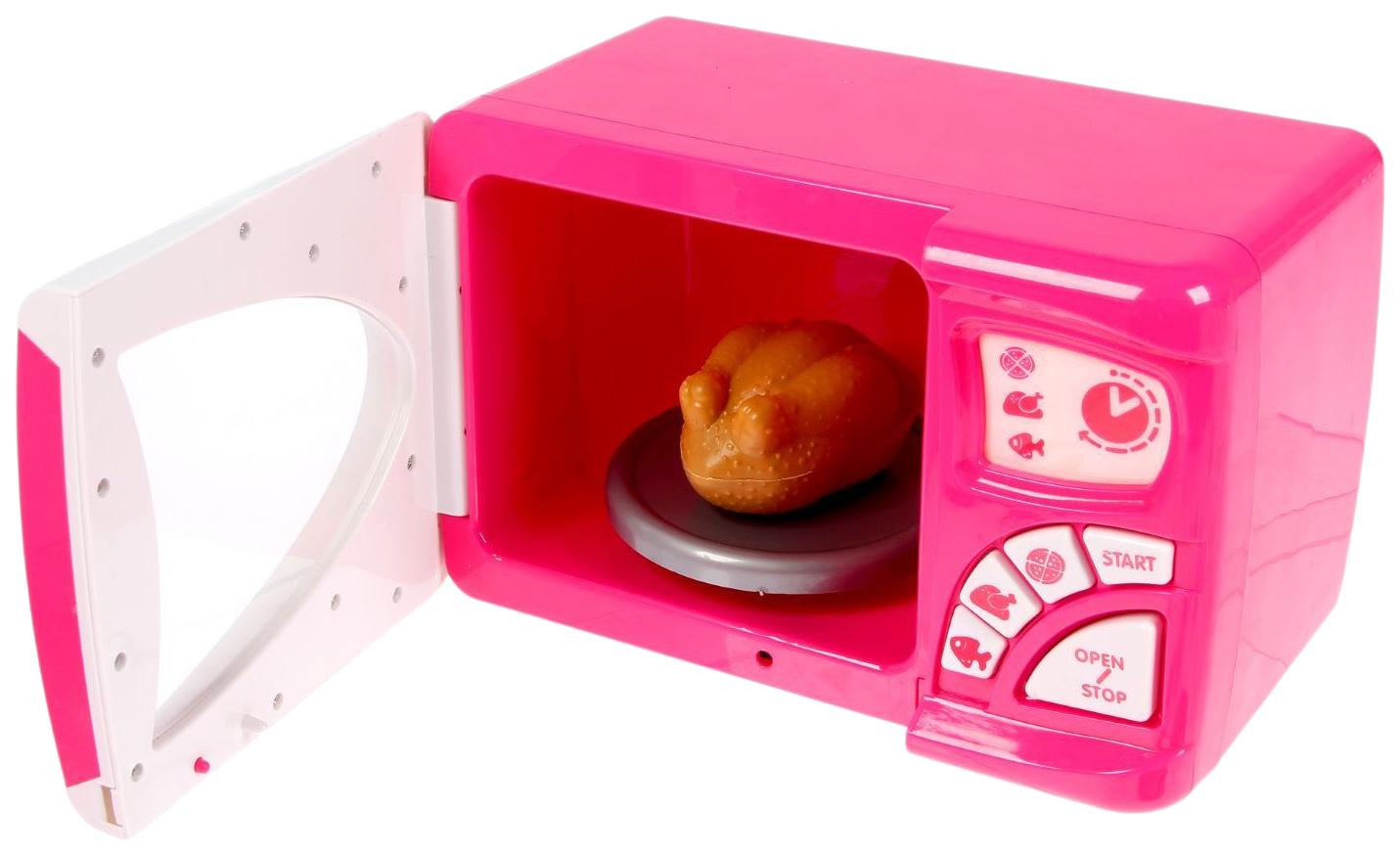 Купить Микроволновая печь Играем дома с аксессуарами (свет, звук), NoBrand, Детская кухня