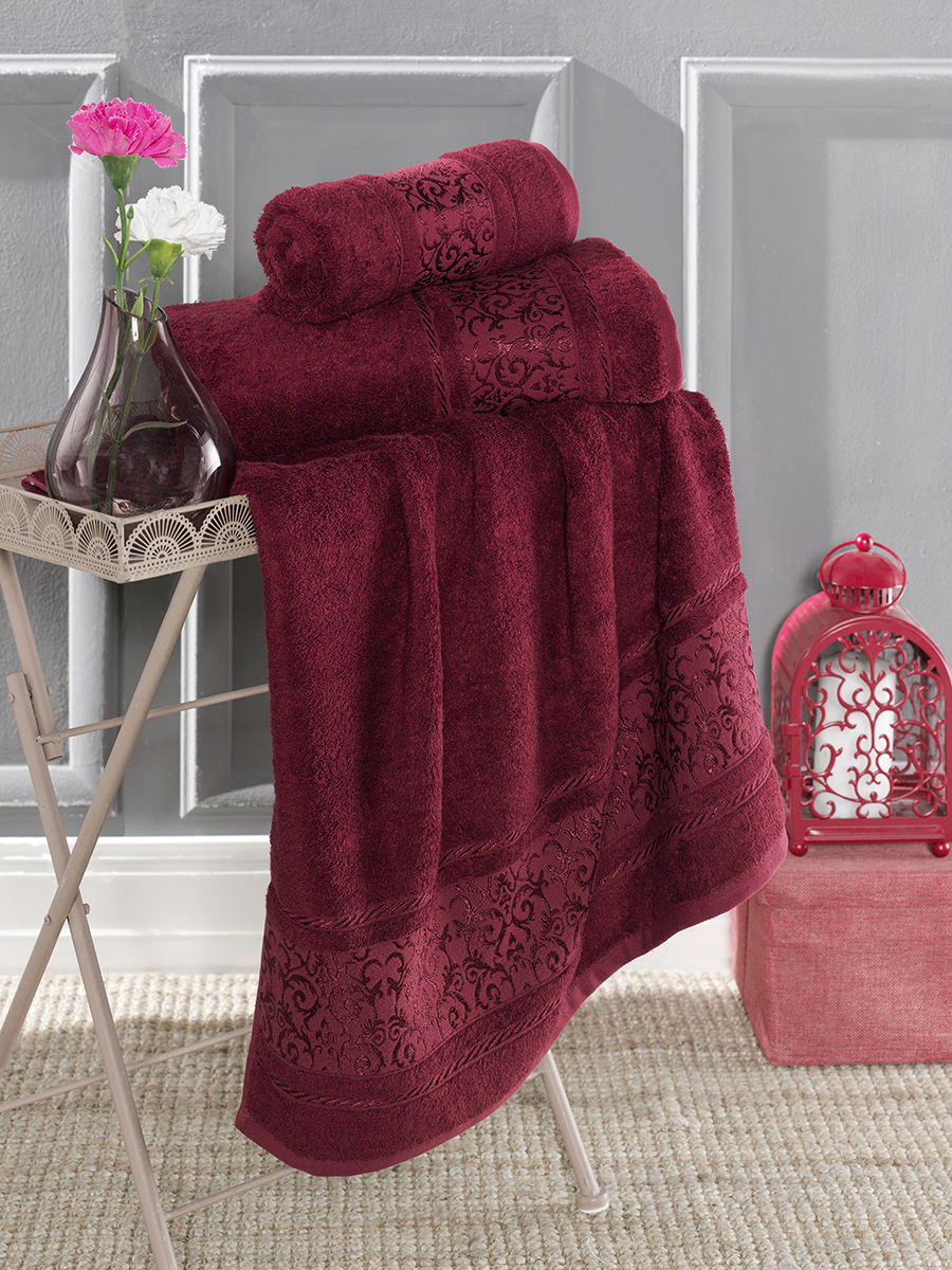 Полотенце Karna Favori Цвет: Бордовый (70х140 см)