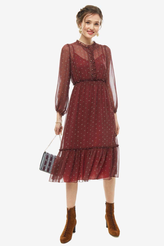 Платье женское VERA MONI BU3712b/19211/1 бордовое 42 фото