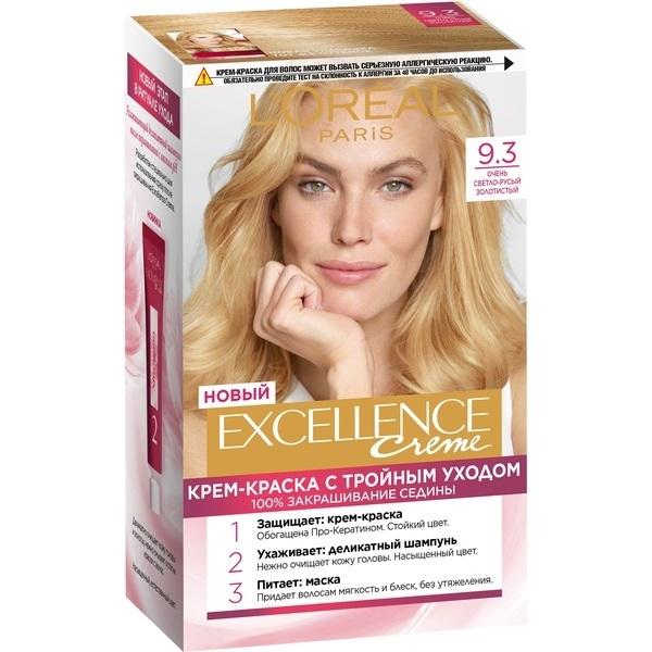 Крем-краска для волос L\'Oreal Excellence стойкая тон 9.3 \