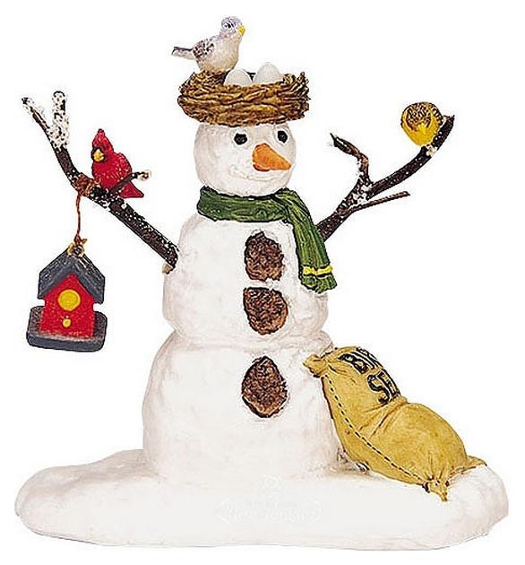 Lemax Фигурка «Веселый снеговик с птичьим гнездом», 7 см 32731