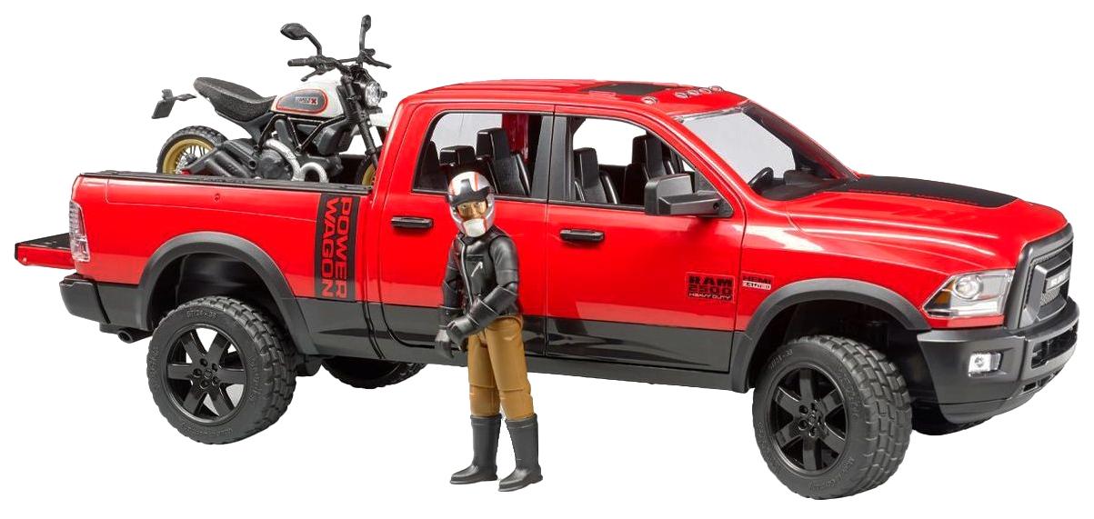 Купить Внедорожник Ram, с мотоциклом Ducati, Bruder,