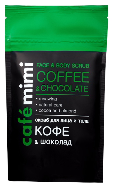 Купить Скраб для лица и тела Café mimi Coffee&Chocolate Face&Body scrub 150 г, Cafe mimi