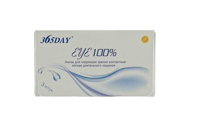 Купить Контактные линзы 365Day Eye 100% 3 линзы R 8, 6 -7, 5, 365 дней
