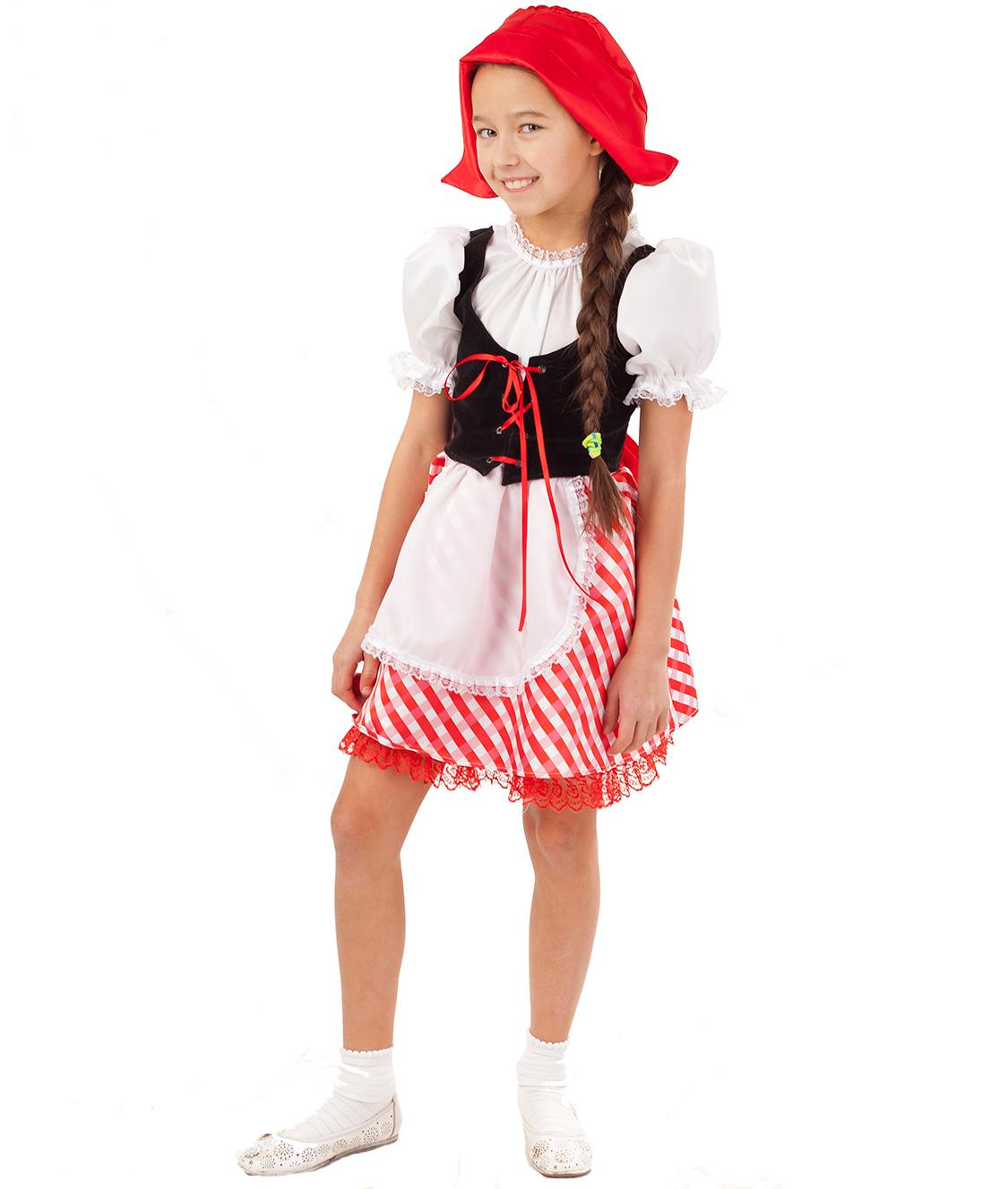 Карнавальный костюм Батик Красная Шапочка, цв. белый;