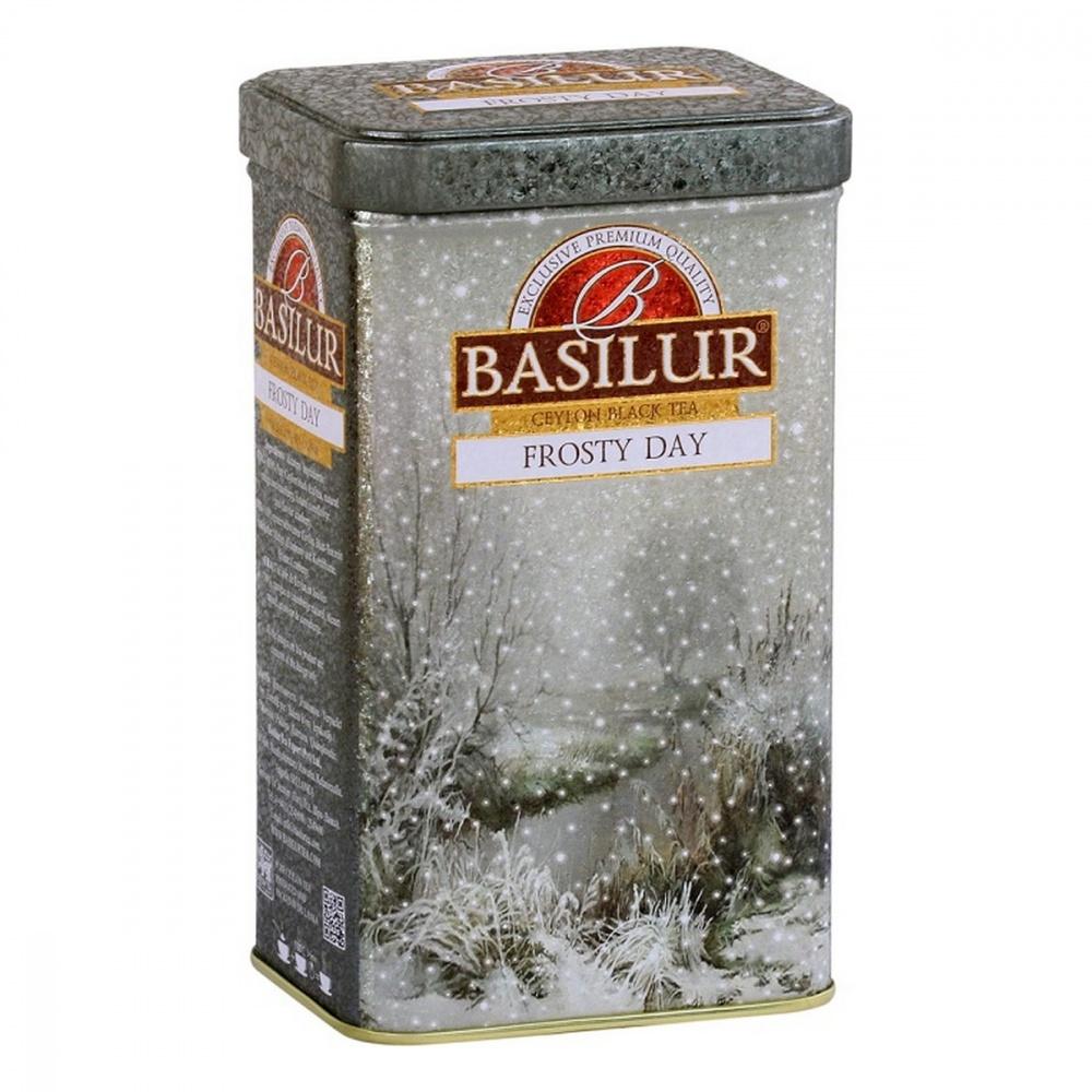 Чай Basilur Праздничная коллекция - Морозный день черный с добавками 85 г фото