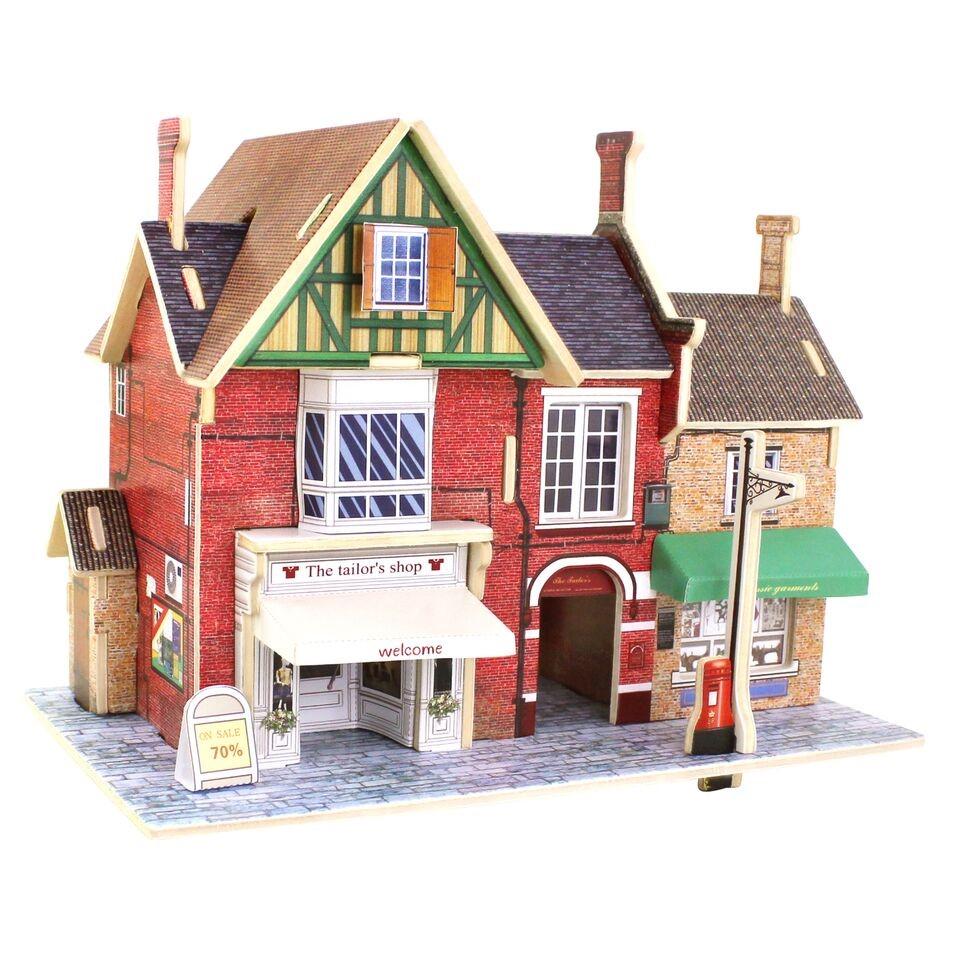 3d деревянный пазл robotime британская серия магазин