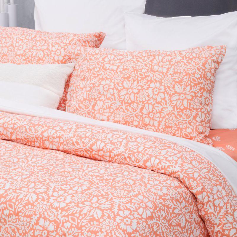 Комплект постельного белья S&J Нуга персиковая евро фото
