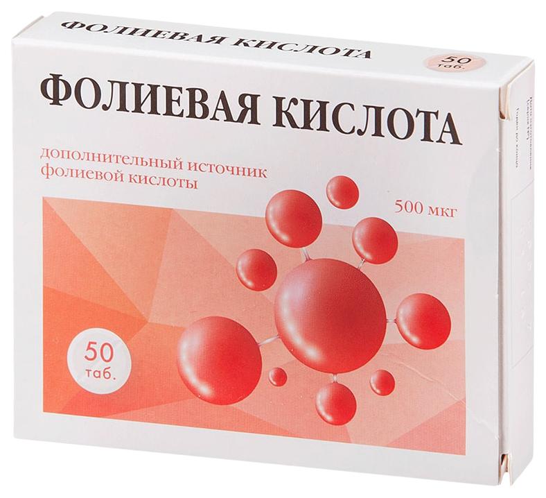 Купить Квадрат-С Фолиевая кислота, Фолиевая кислота PL таблетки 50 шт.