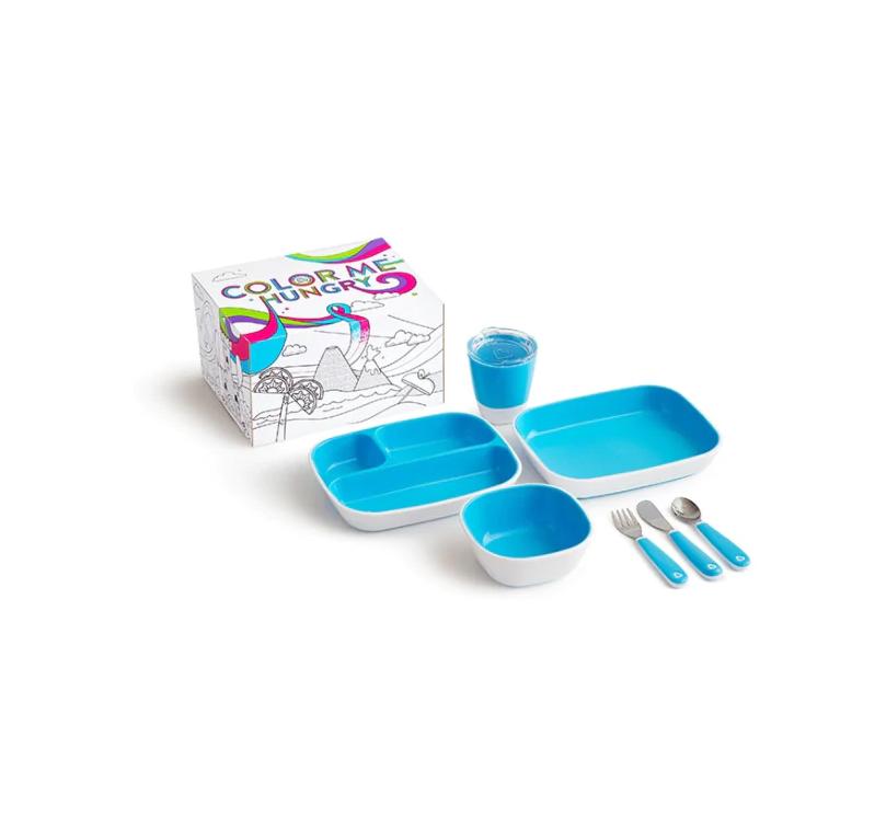 Набор посуды Munchkin 7 предметов, голубой
