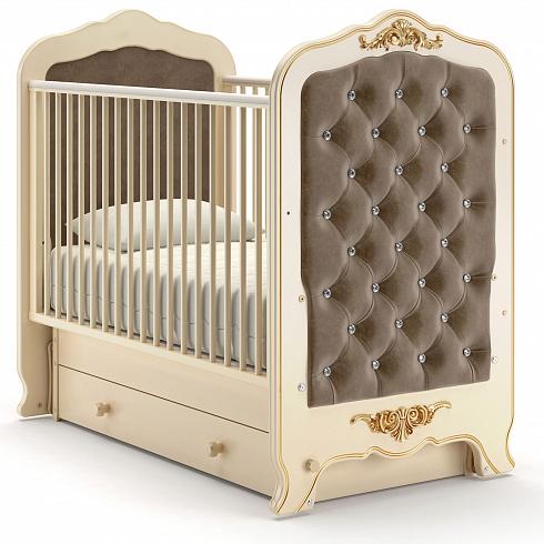 Купить Детская кровать Nuovita Fulgore swing, слоновая кость, Классические кроватки