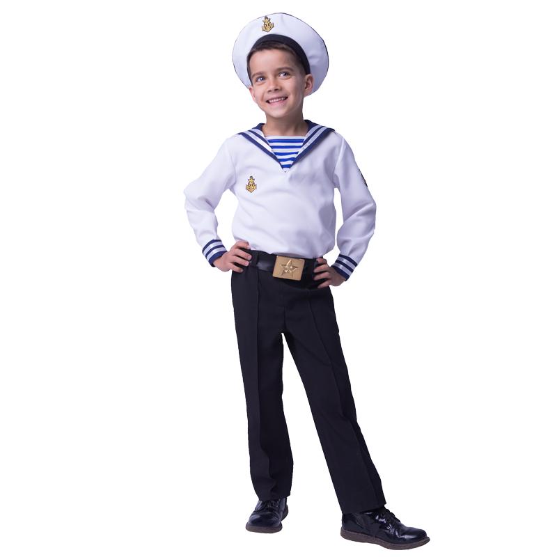 Карнавальный костюм Батик Моряк, цв. белый; черный