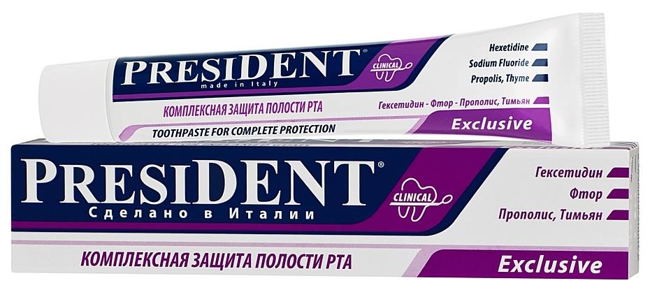 Зубная паста President Exclusive 50 мл  - Купить