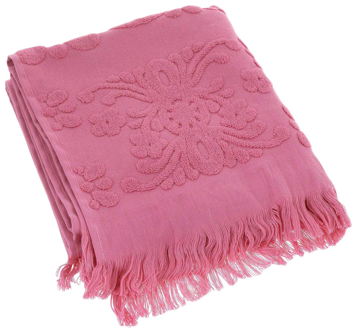 Банное полотенце, полотенце универсальное Arya розовый
