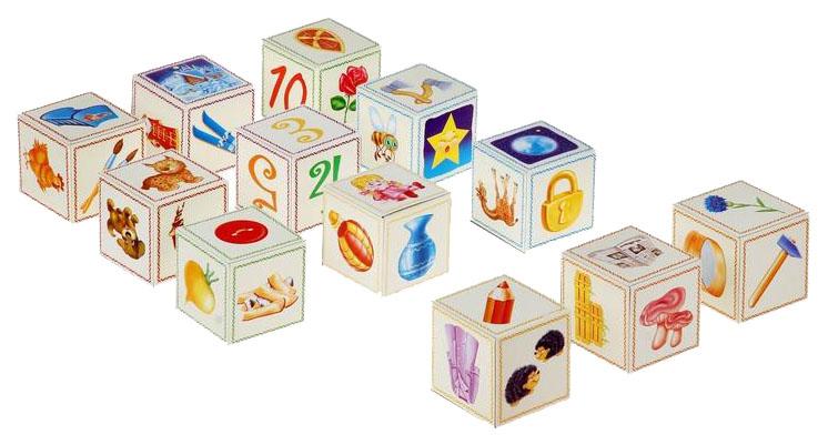 Кубики для настольных игр Радуга НПИ Логопедические