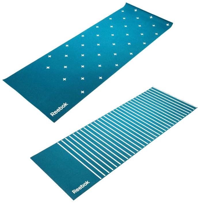 Коврик для йоги Reebok Полоски RAYG 11030GN синий