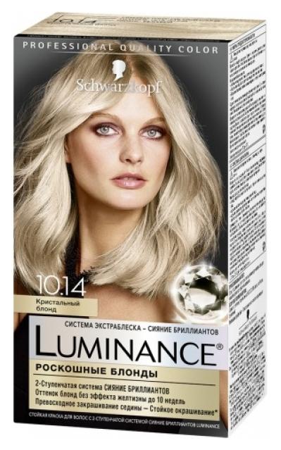 Краска для волос Schwarzkopf Luminance Color 10.14 Кристальный блонд 165 мл