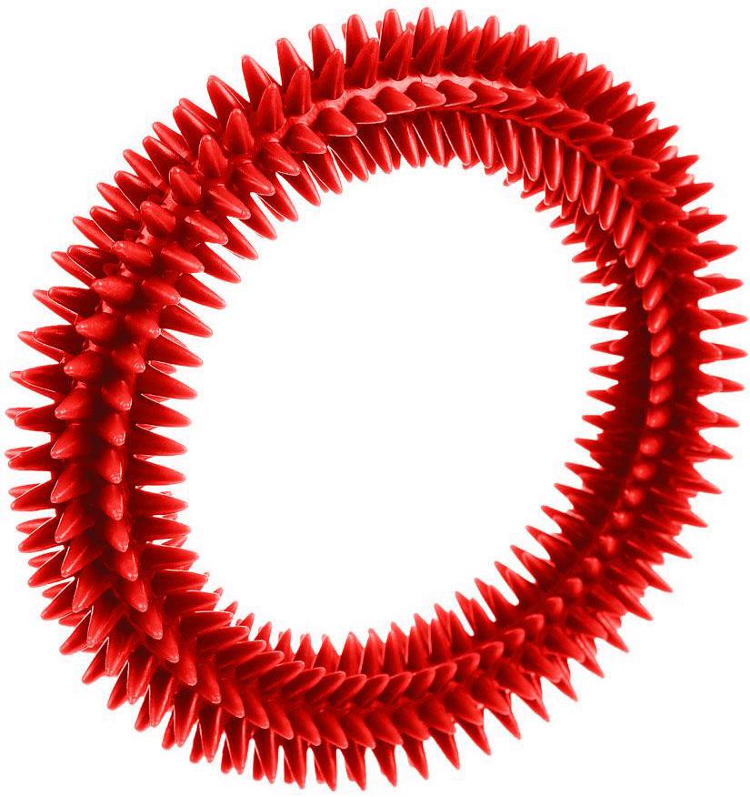 Жевательная игрушка для собак V.I.Pet Кольцо массажное с шипами, в ассортименте, 12 см