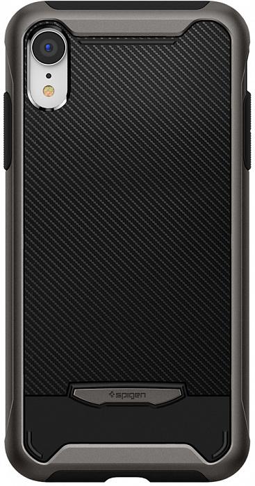 Чехол Spigen Hybrid NX (064CS24903) для iPhone XR (Gunmetal)