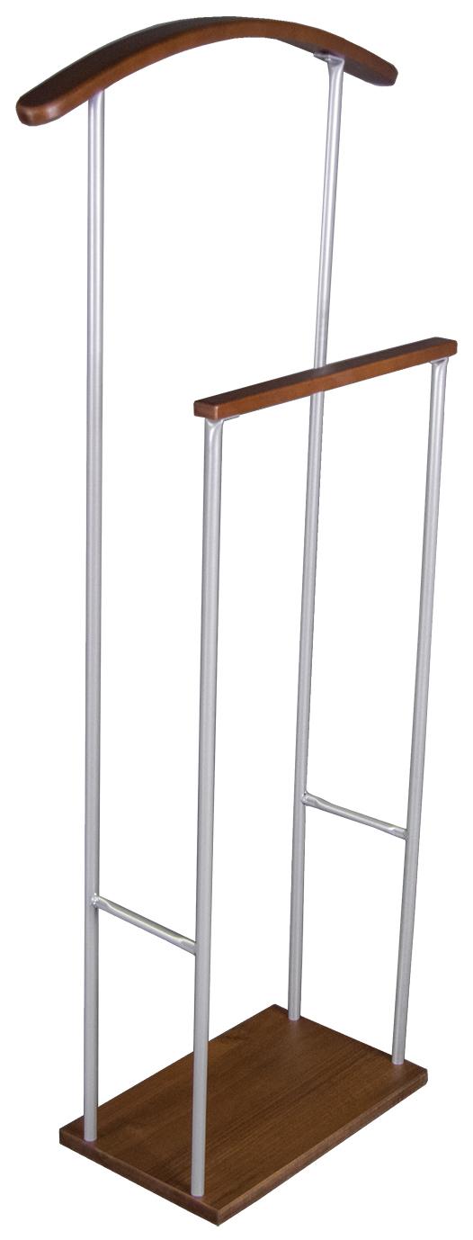 Вешалка костюмная Мебелик Верис 2 Металлик/Средне коричневый