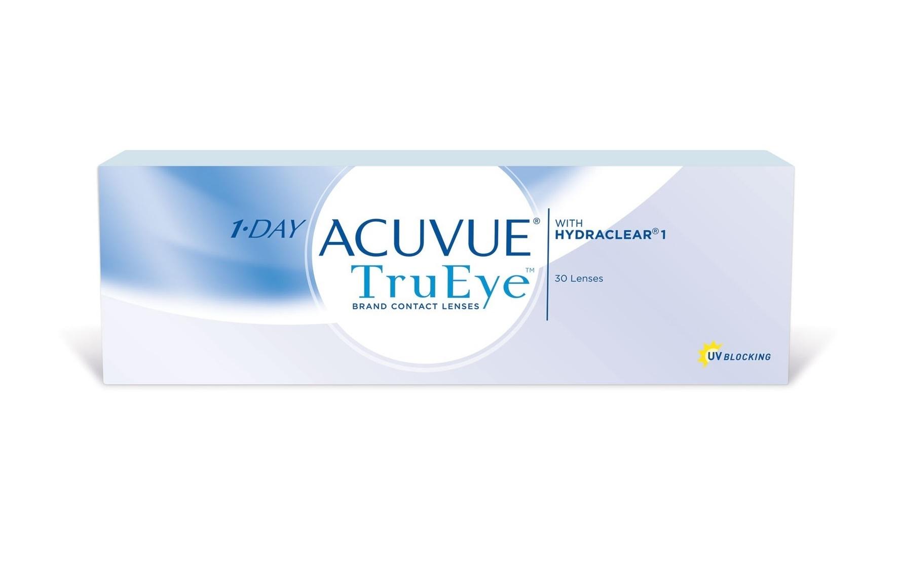 Купить 1-Day TruEye 30 линз, Контактные линзы 1-Day Acuvue TruEye 30 линз R 8, 5 +4, 75