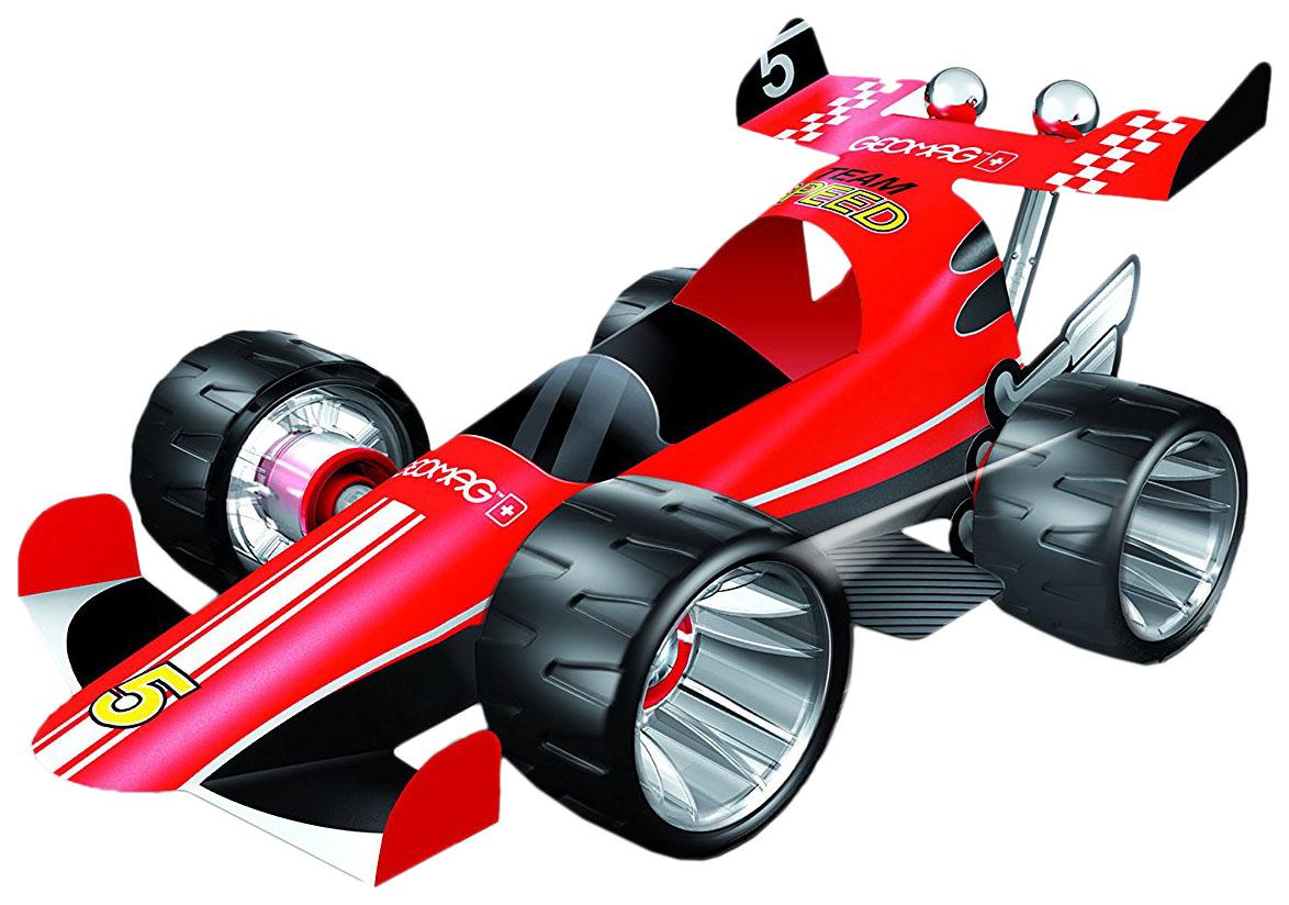 Купить Конструктор магнитный Geomag Машина гоночная красная 25 элементов 710, Магнитные конструкторы