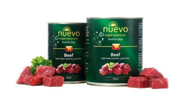 Консервы для собак Nuevo, говядина, 800 г