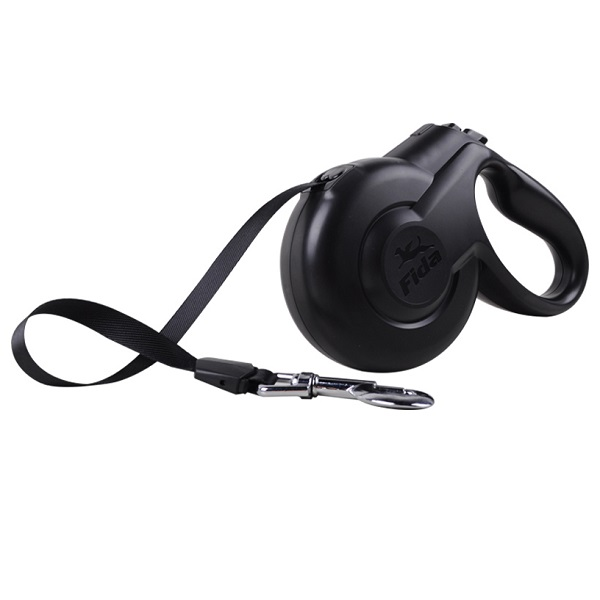 Поводок-рулетка Fida Styleash 5м для собак крупных пород до 50 кг черная