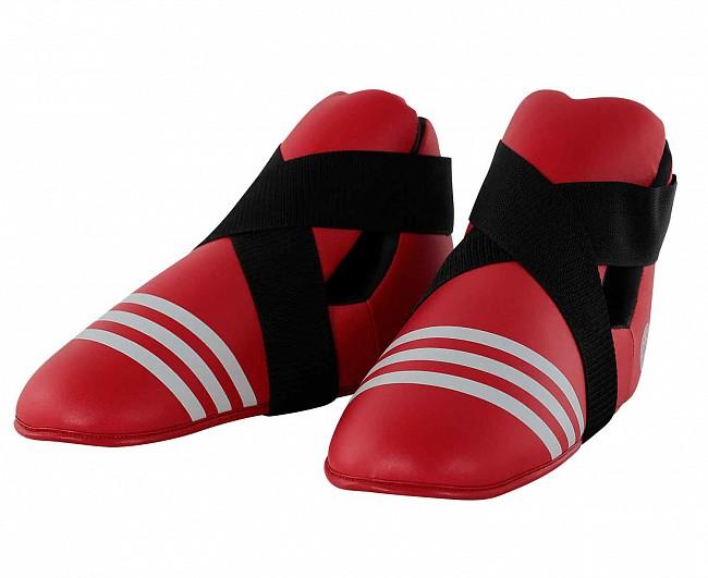 Защита стопы Adidas WAKO Kickboxing Safety Boots красная