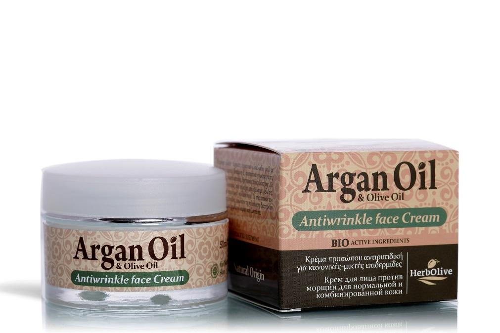 Купить Крем для лица Arganoil против морщин для нормальной и комбинированной кожи 50 мл