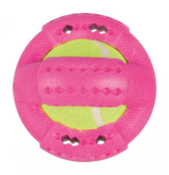 Жевательная игрушка для собак TRIXIE Кольцо с теннисным мячиком, в ассортименте, 9 см