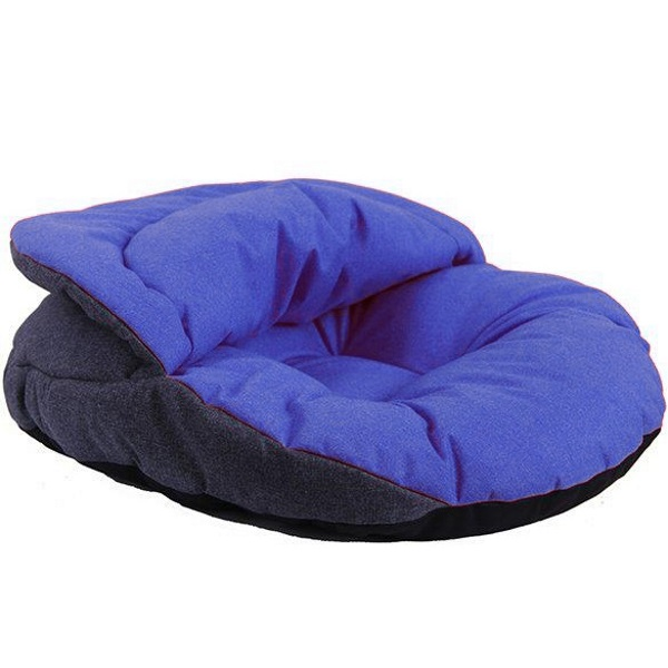 Лежанка нора для собак PrettyPet серо голубая