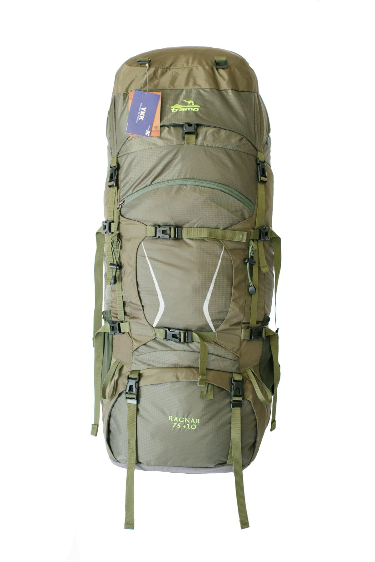 Туристический рюкзак Tramp Ragnar, зеленый, 75+10 л фото