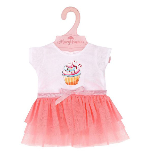 Купить MARY POPPINS Одежда для куклы 38-43 см, футболка и юбочка Пирожное 452153, Одежда для кукол