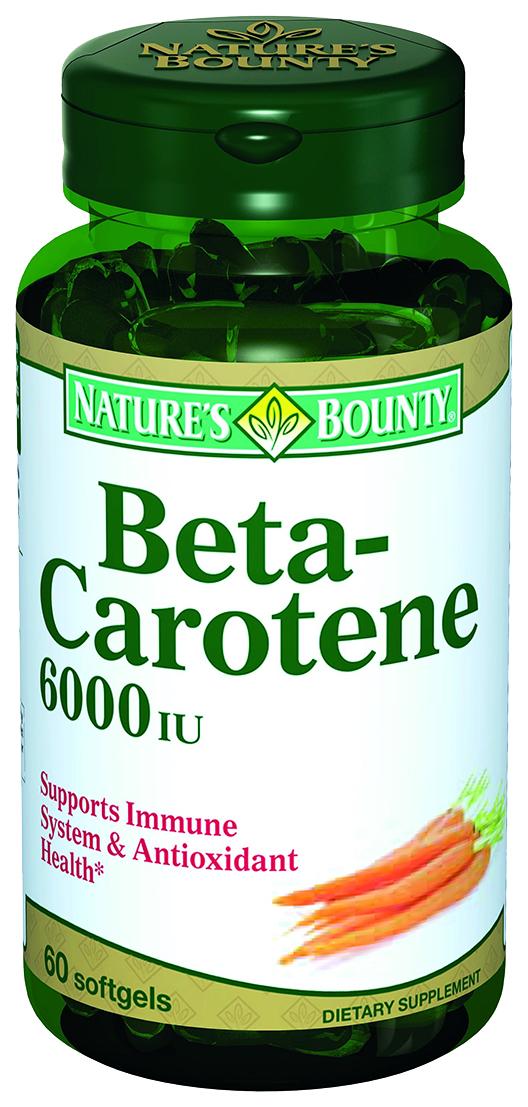 Natures Bounty Бета-каротин капсулы 6000 мЕ 60 шт.